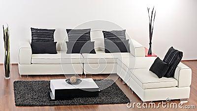 A modern minimalist living-room