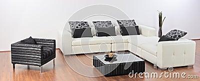 Modern minimalist living-room