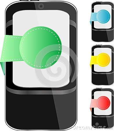 Modern mobile smart phone set