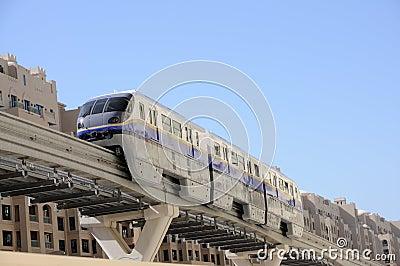 Modern Monorail in Dubai