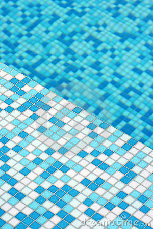 Modern mosaic pool floor pattern