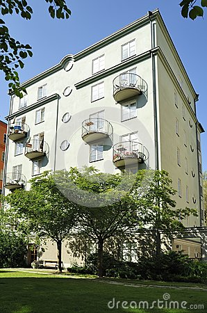 Modern multi-apartments building