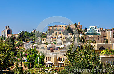 Modern neighborhood in Jerusalem, Israel.