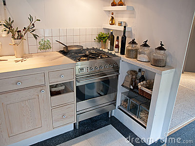Modern neo classical wooden kitchen