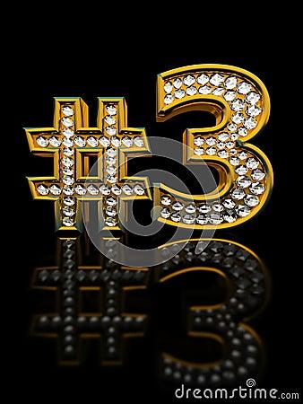 Modern numeral three