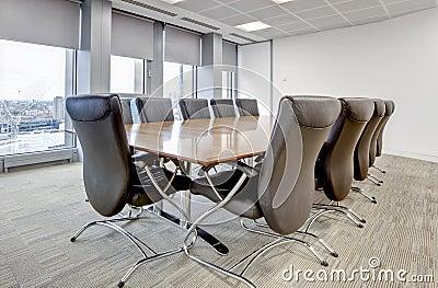 Modern office boardroom