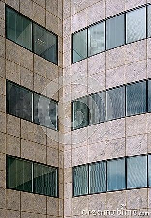 Modern office building facade pattern