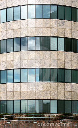 Modern office building facade pattern