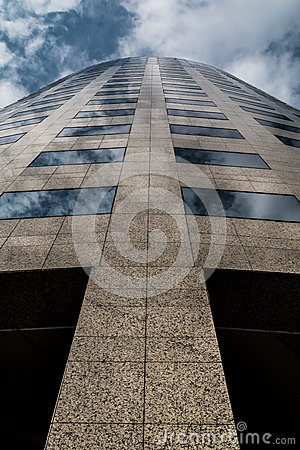Free Modern Office Building Skyscrapers & Clouds Royalty Free Stock Photos - 58763188