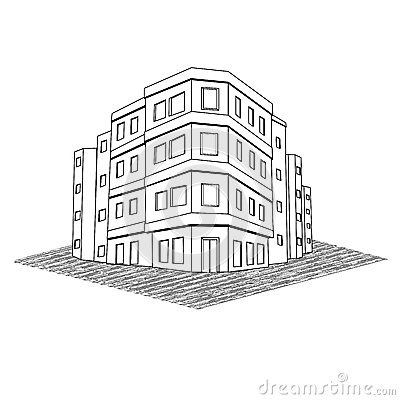Modern Office Building, Tenement Real Estate Stock Image ... - photo#2