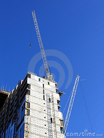 Free Modern Office Building Under Construction In Liverpool Royalty Free Stock Photo - 445995