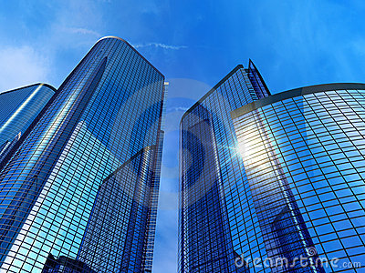 Modern Office Buildings Stock Image - Image: 13001411