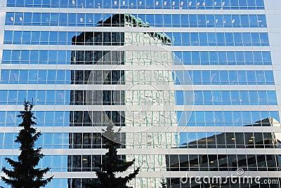 Modern office buildings in calgary