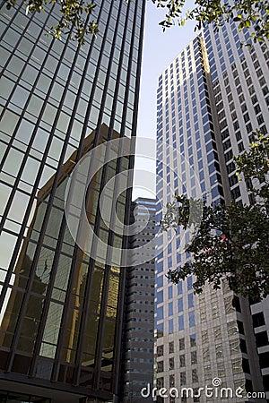 Modern office buildings in Dallas