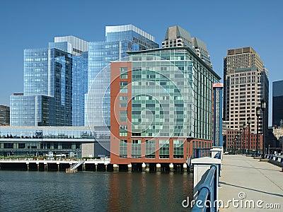 Modern Office Buildings on Harbor