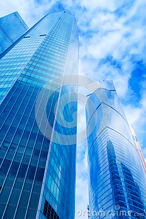 Free Modern Office Buildings. Low Angle Shot Of Modern Glass Skyscrap Stock Image - 95670591
