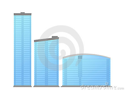 Modern office buildings vector