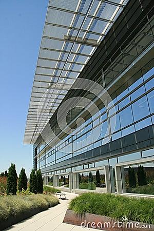 Modern Office Exterior walkway