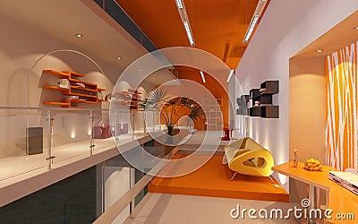 Modern office in loft
