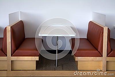 Modern office lunchroom clean view.