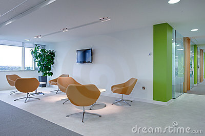 Modern office reception area
