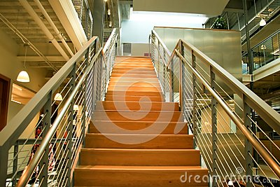 Modern Office Stairs; Going up