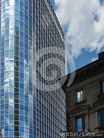 Modern and old business architecture in frankfurt germany for Industrial design frankfurt