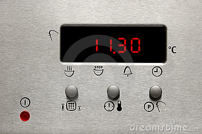 Modern oven display