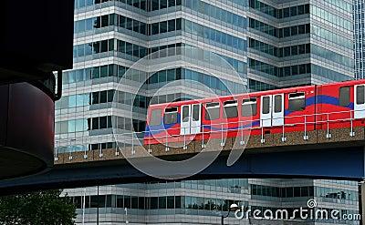 Modern overland travel through city