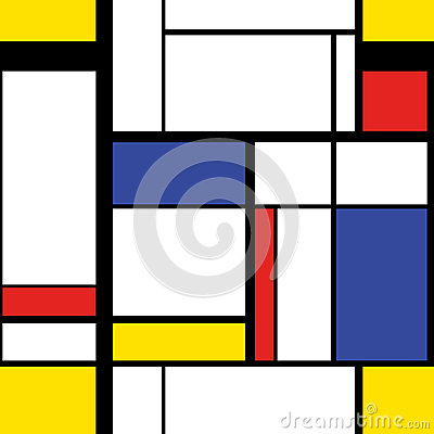 Free Modern Painting In Mondrian Style, Seamless Pattern Royalty Free Stock Photo - 78468125