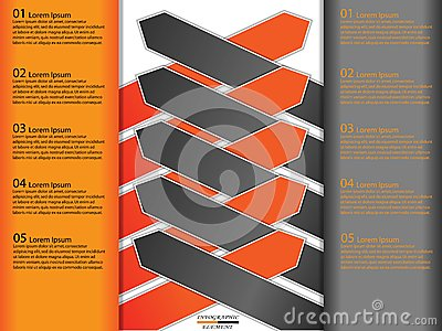 Modern paper business infographics