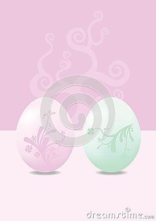 Modern Pastel Easter Eggs