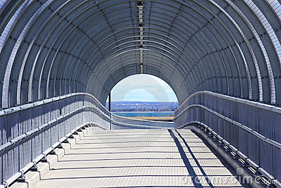 Pedestrian bridge modern