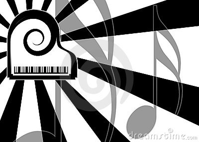Modern piano music background