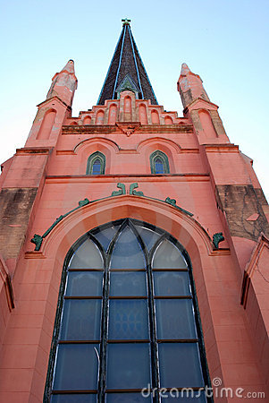 Modern pink church