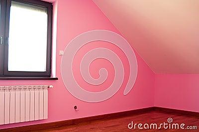 Modern pink room