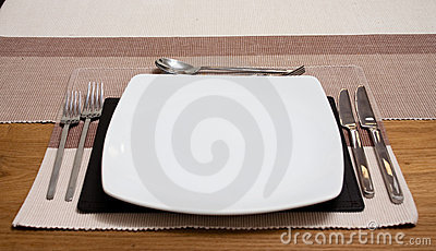 A modern place setting stock photo image 11741150 for Modern place settings