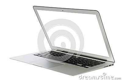 Modern popular business laptop notebook computer