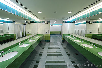 Modern Public Restroom Royalty Free Stock Images - Image: 20437299