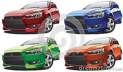 Asian compact sedan