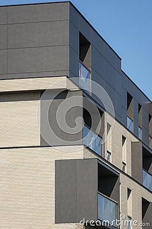 Modern real estate windows exterior