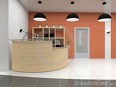 Modern reception in office
