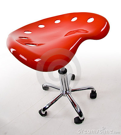 Modern Red Bar Stool