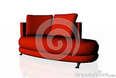 Modern red divan