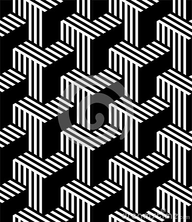 Free MODERN REGULAR GEOMETRIC SEAMLESS VECTOR PATTERN. STRIPED PARALLEL LINES. ABSTRACT OPTIC ART DESIGN Royalty Free Stock Image - 108594916
