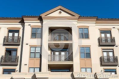 Modern residential complex facade