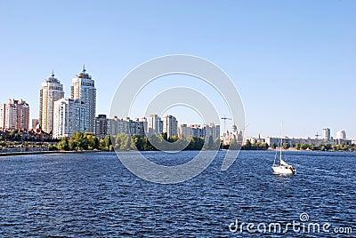 Modern residential district Obolon(Kyiv, Ukraine)