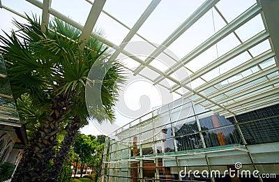 Modern resort exterior