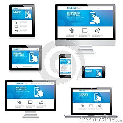 Free Modern Responsive Web Design Computer, Laptop, Tab Royalty Free Stock Photo - 37450935
