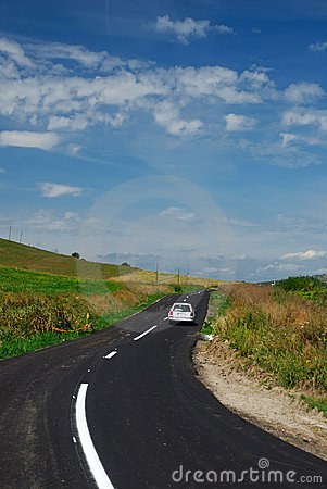 Modern road in countryside landscape